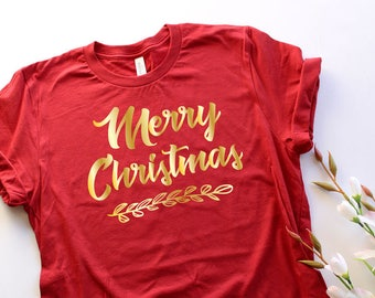 Merry Christmas Holiday Gift Shirt Unisex Tee Family Reunion Office Party Idea