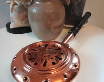 Little pan for bed / Villedieu copper / Normandy / antique