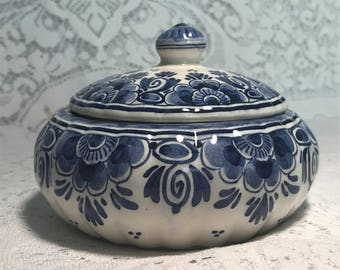 Delft Hand Painted Candy Dish