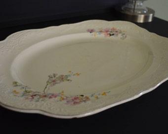 Vintage Papoco Floral Serving Platter