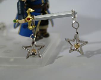 Wishing Star Progress Keeper / Stitch marker ,charm, Knitting Accessory
