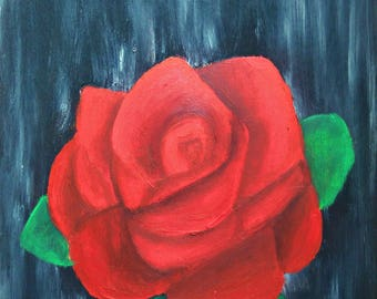 Original Acrylic Rose Painting Flower painting Original Acrylic painting Rose wall art Flower wall art