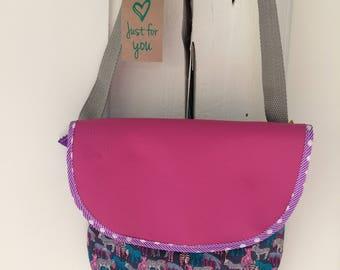 Colorful Zebra pink designer bag girl child
