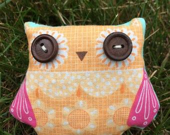 Handmade Organic Lavender filled Sachet OWLS and FISH