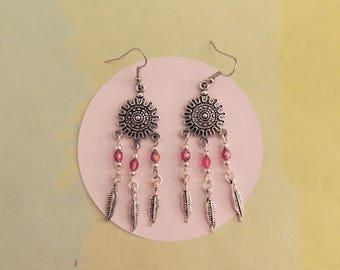 Lima pink earrings Fuchsia