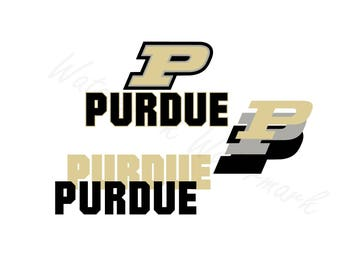 Purdue Boilermakers SVG and Studio 3 Cut File Stencil Decal Files Indiana Logo for Silhouette Cricut SVGS Cutouts Football Decals Logos