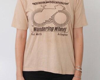 "Vintage Bruce Gordon ""Wandering Wheel"" T-Shirt"