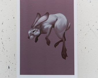 Floating jackrabbit part 2 - art print