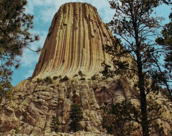 Travel Photography, Devils Tower, Wyoming, Digital Download, Printable Wall Art, Wall Decor, Home Decor,Travel Decor,nature print,travel art