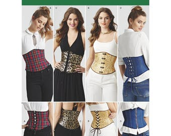 Simplicity corset patterns 8129, Corset sewing pattern, Easy Waist Cincher Corsets, corset sewing pattern sizes 6-14