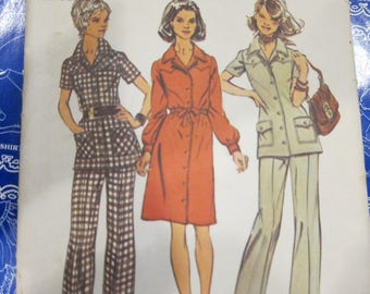 Vintage simplicity pattern , Simplicity pattern 5735, Simplicity 5735 Misses Dress or Tunic and Pants