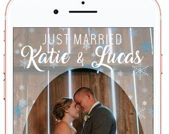 Winter Wedding Snapchat Geofilter #17