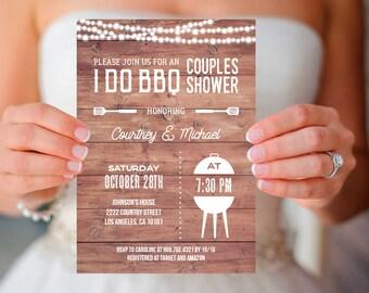 I do bbq Couples Shower Invitation, rustic I do bbq bridal shower invite template, INSTANT DOWNLOAD editable pdf digital, country bridal