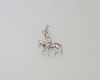 Lady Godiva Charm Pendant in .925 Sterling Silver