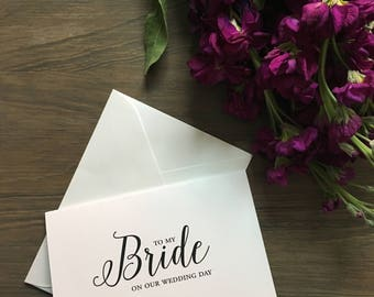 To my bride card