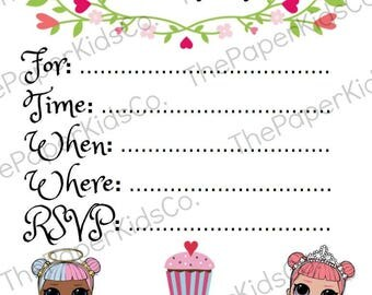 L.O.L Surprise Doll - Blank Party Invitations