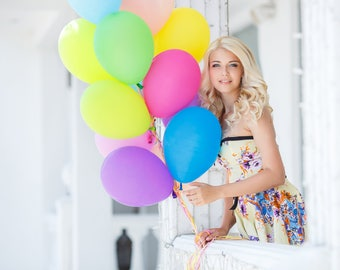 Rainbow Balloon Bouquet - Birthday Balloon Bouquet