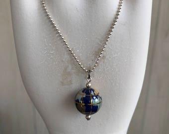Lapis Globe Necklace