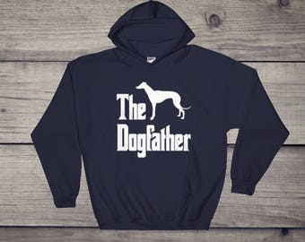 The Dogfather hoodie, hooded sweatshirt, Greyhound Silhouette, funny dog gift, The Godfather parody, dog lover sweater, dog gifti idea, dog