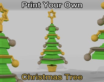 Print your own 3D printed Christmas Tree - STL / Decorations / Happy / Gift / Xmas / Design / Ornament / Table Piece / Display