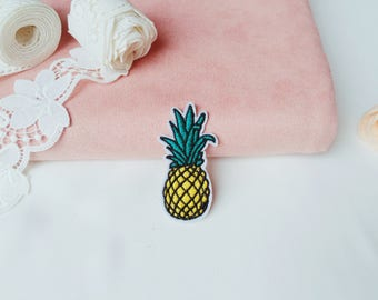 pineapple patch /iron on /embroidered /applique /for jacket /diy/cute