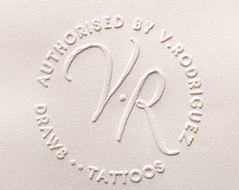 Custom Embosser stamp, Address Embosser, Return Address Embossing Stamp, Paper Embossing Stamp, Calligraphy Address Stamp
