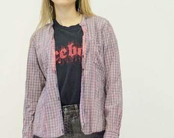 Vintage MARC O'POLO Pink Checked Long Sleeve Retro Shirt