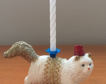 Cat animal candle