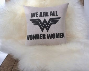 Wonder Women Cushion, Slogan Pillow, Positive Affirmation Cushion