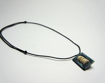 Shell and stone necklace