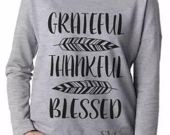Grateful Thankful Blessed SVG, Grateful SVG, Thankful SVG, Blessed Svg