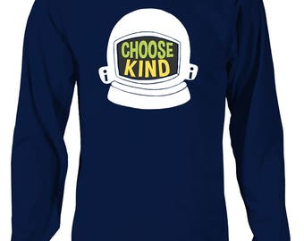 Choose Kind Long Sleeve T-Shirt - Helmet