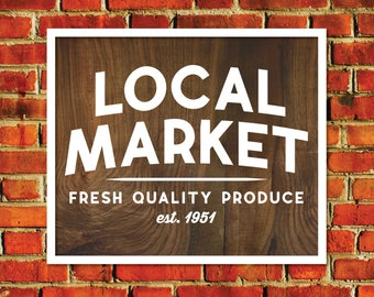 Market Sign, Fixer Upper Vector, Fixer Upper SVG, Joanna Gaines SVG, Magnolia Market Cut File, Stencil, Print, Silhouette Cameo, Sign, DXF