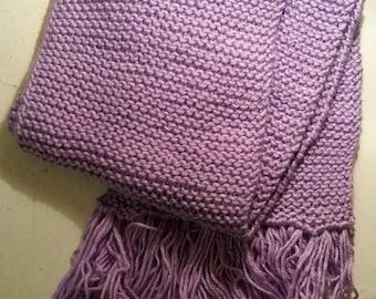 Violet Knit Scarf