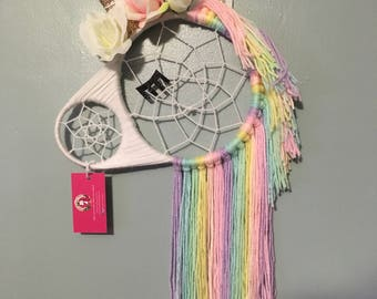 LARGE Unicorn Dreamcatcher, Dream Catcher, Wall Hanging, Nursery Decor