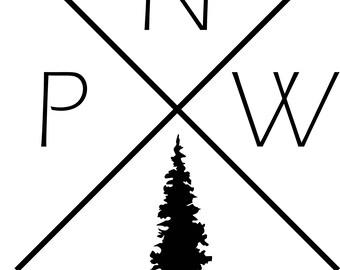 Pacific Northwest PNW Sticker/Decal