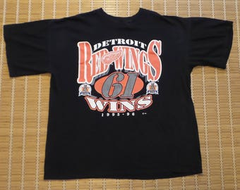Vintage Detroit Red Wings NHL Hockey Stanley Cup 1996 Champions T-Shirt XL