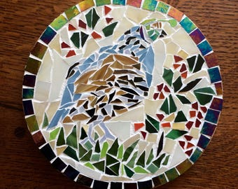new home gift|home decor|mosaic|trivet|quail|shower gift|wedding gift|coaster