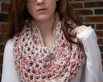 "Simple Cowl: ""Strawberry Sorbet"""