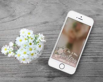 Mr & Mrs Wedding Snapchat Geofilter
