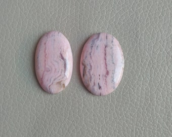 Natural Rhodochrosite Cabochon 2 Pieces Stones, Rhodochrosite Cabs, Oval Shape Rhodochrosite Stone, Smooth Super Shiny, Weight 120 Carat.