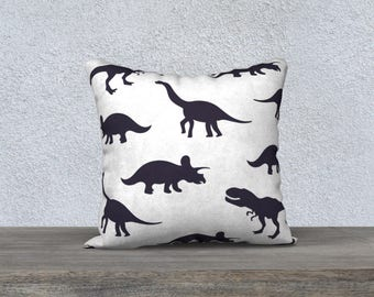 "Kids decorative pillow cover ""dinosaur"" black and white pillow case pillow-baby-child-decor-animal nursery gift"
