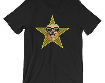 Golden Retriever Tshirt, Golden Retriever Mom, Golden Retriever Shirt, Golden Retriever Gift, Superstar, Yellow Star, Sunglasses, tee Shirt