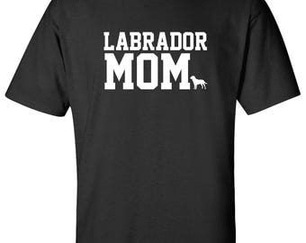 Labrador Dog mom 100% Cotton Graphic Logo Tshirt