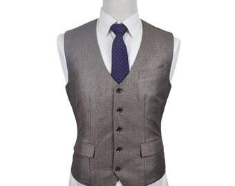 Custom Fitted Waistcoat in Grey