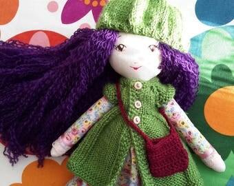 Cloth doll, cute girls toys, tilda doll, fabric doll, gift for girls, dressed toy, soft doll, rag doll, waldorf, textile doll, interior doll