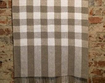 Large handwoven linen towel, coverlet,plaid massage towel, sauna towel, 100% linen, natural towel, pure linen