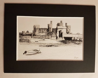 Conwy Mounted Print