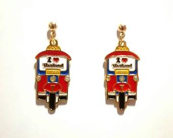 Thai Elegant Gold Plated Front Tuktuk earrings