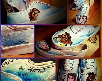 """""""Beauty and the Beast"""" shoes"""
